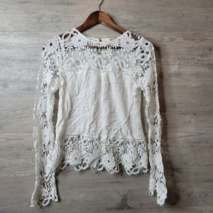 Lacey Detailed Blouse Shirt. Perfect Condition!